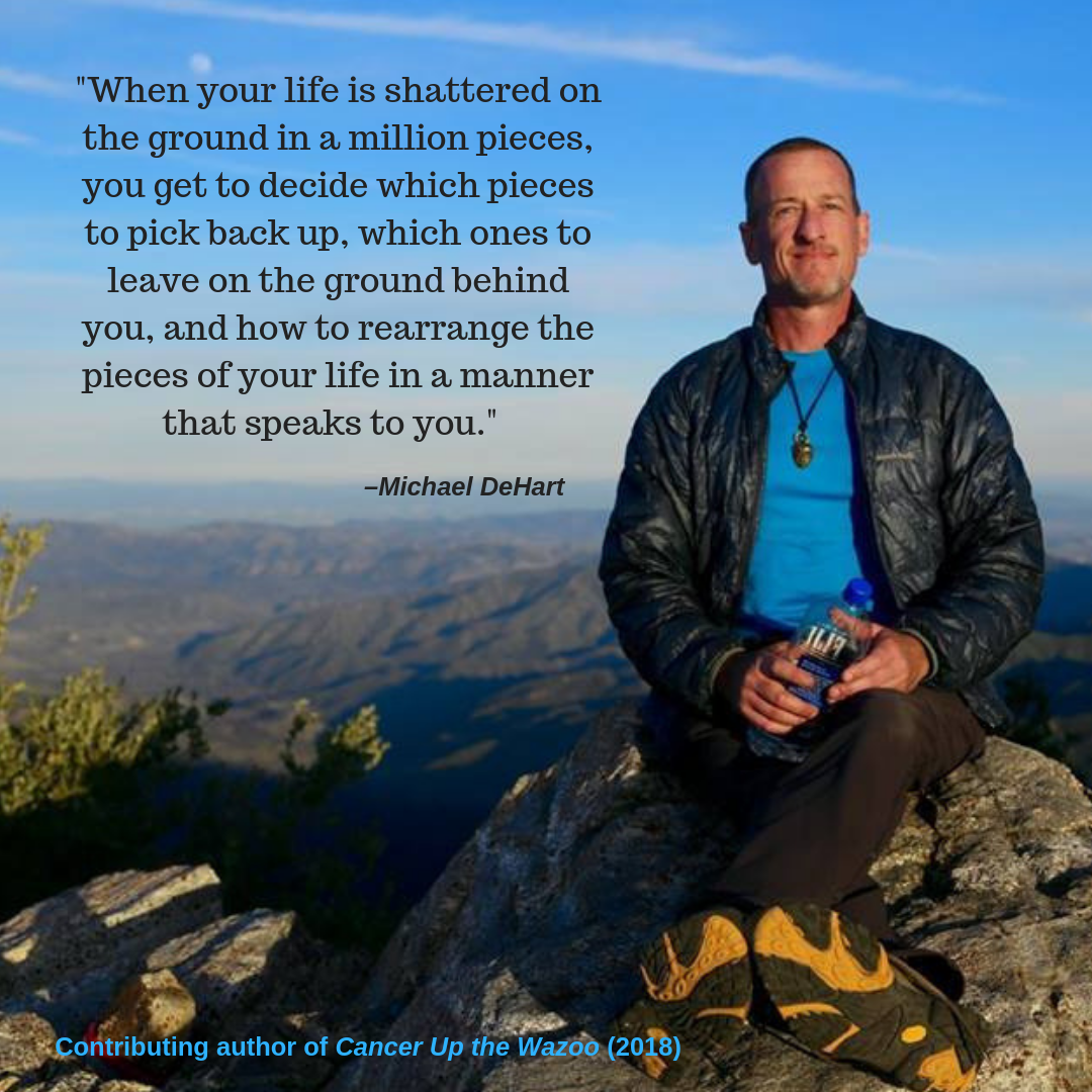 Michael sitting on mountain quote